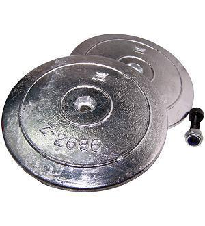 130mm double disc zinc anode